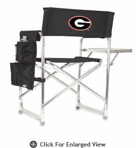 Picnic Time Sports Chair - Black Digital Print University of Georgia Bulldogs