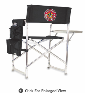 Picnic Time Sports Chair - Black Digital Print University of Louisiana Ragin Cajuns