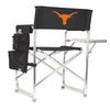 Picnic Time Sports Chair - Black Digital Print University of Texas Longhorns