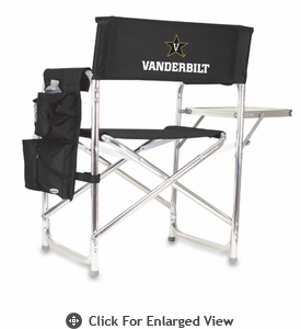 Picnic Time Sports Chair - Black Digital Print Vanderbilt University Commodores