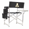 Picnic Time Sports Chair - Black Embroidered Appalachian State Mountaineers