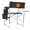Picnic Time Sports Chair - Black Embroidered Clemson University Tigers