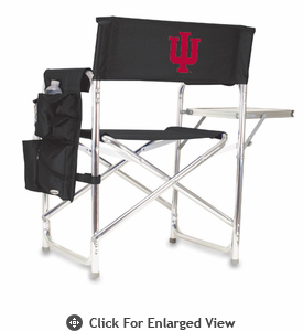 Picnic Time Sports Chair - Black Embroidered Indiana University Hoosiers