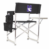 Picnic Time Sports Chair - Black Embroidered Northwestern University Wildcats