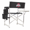 Picnic Time Sports Chair - Black Embroidered Ohio State Buckeyes