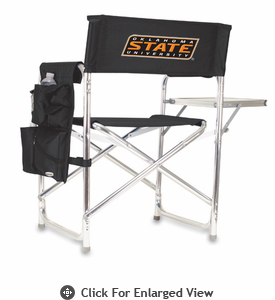 Picnic Time Sports Chair - Black Embroidered Oklahoma State Cowboys