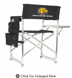 Picnic Time Sports Chair - Black Embroidered Southern Miss Golden Eagles