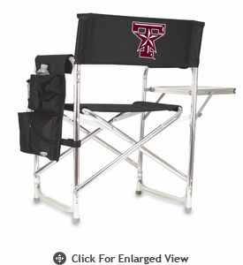 Picnic Time Sports Chair - Black Embroidered Texas A & M Aggies