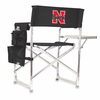 Picnic Time Sports Chair - Black Embroidered University of Nebraska Cornhuskers