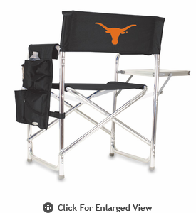 Picnic Time Sports Chair - Black Embroidered University of Texas Longhorns
