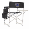 Picnic Time Sports Chair - Black Embroidered University of Washington Huskies
