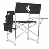 Picnic Time Sports Chair - Black Embroidered University of Wyoming Cowboys