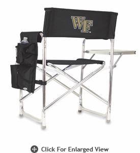 Picnic Time Sports Chair - Black Embroidered Wake Forest Demon Deacons
