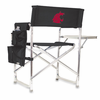 Picnic Time Sports Chair - Black Embroidered Washington State Cougars