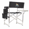 Picnic Time Sports Chair - Black Miami Marlins