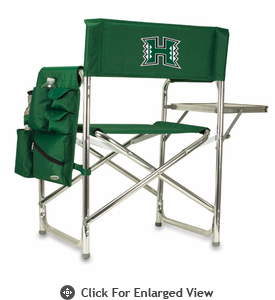 Picnic Time Sports Chair - Hunter Green Digital Print University of Hawaii Warriors