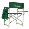 Picnic Time Sports Chair - Hunter Green Embroidered Cal Poly Mustangs