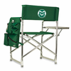Picnic Time Sports Chair - Hunter Green Embroidered Colorado State Rams
