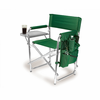 Picnic Time Sports Chair - Hunter Green Embroidered Marshall University Thundering Herd