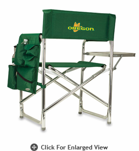 Picnic Time Sports Chair - Hunter Green Embroidered University of Oregon Ducks