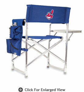 Picnic Time Sports Chair - Navy Blue Cleveland Indians