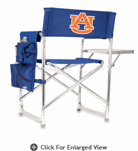 Picnic Time Sports Chair - Navy Blue Digital Print Auburn University Tigers