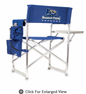 Picnic Time Sports Chair - Navy Blue Digital Print BYU Cougars