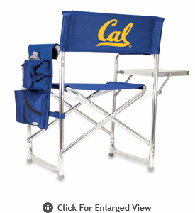 Picnic Time Sports Chair - Navy Blue Digital Print UC Berkeley Golden Bears