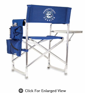 Picnic Time Sports Chair - Navy Blue Digital Print University of Connecticut Huskies