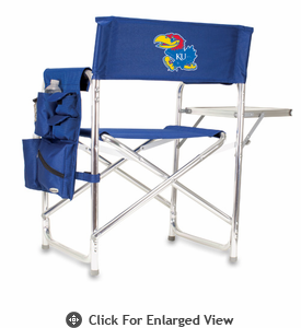 Picnic Time Sports Chair - Navy Blue Digital Print University of Kansas Jayhawks