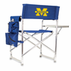 Picnic Time Sports Chair - Navy Blue Digital Print University of Michigan Wolverines