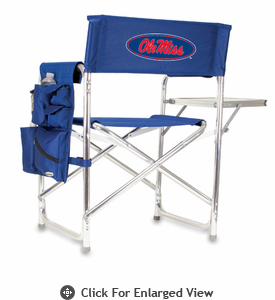 Picnic Time Sports Chair - Navy Blue Digital Print University of Mississippi Rebels