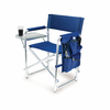 Picnic Time Sports Chair - Navy Blue Digital Print West Virginia University Mountaineers