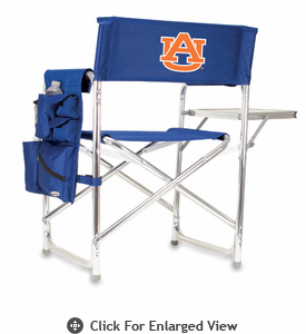 Picnic Time Sports Chair - Navy Blue Embroidered Auburn University Tigers