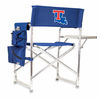 Picnic Time Sports Chair - Navy Blue Embroidered Louisiana Tech Bulldogs