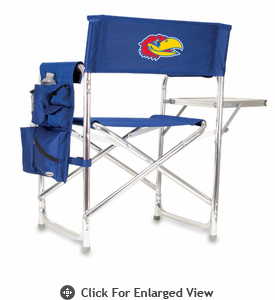 Picnic Time Sports Chair - Navy Blue Embroidered University of Kansas Jayhawks