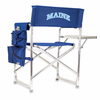 Picnic Time Sports Chair - Navy Blue Embroidered University of Maine Black Bears