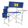 Picnic Time Sports Chair - Navy Blue Embroidered University of Michigan Wolverines