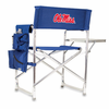 Picnic Time Sports Chair - Navy Blue Embroidered University of Mississippi Rebels