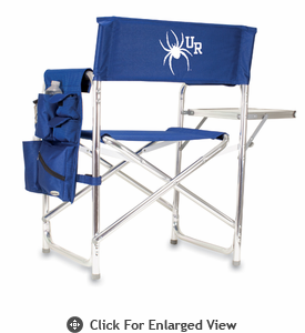 Picnic Time Sports Chair - Navy Blue Embroidered University of Richmond Spiders