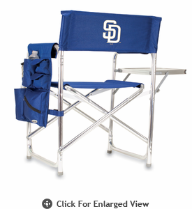 Picnic Time Sports Chair - Navy Blue San Diego Padres