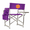 Picnic Time Sports Chair - Purple Digital Print Clemson University Tigers