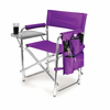 Picnic Time Sports Chair - Purple Embroidered Clemson University Tigers