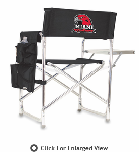 Picnic Time Sports Chair - Red Digital Print Miami University Red Hawks