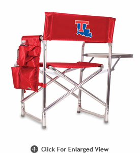 Picnic Time Sports Chair - Red Embroidered Louisiana Tech Bulldogs