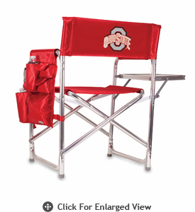 Picnic Time Sports Chair - Red Embroidered Ohio State Buckeyes