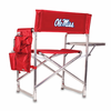 Picnic Time Sports Chair - Red Embroidered University of Mississippi Rebels