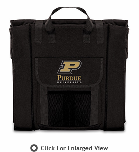 Picnic Time Stadium Seat - Black Purdue University Boilermakers