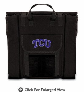 Picnic Time Stadium Seat - Black TCU Horned Frogs