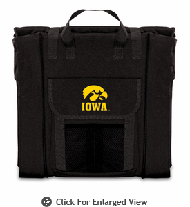 Picnic Time Stadium Seat - Black University of Iowa Hawkeyes